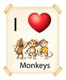 I love monkeys Stock Photo