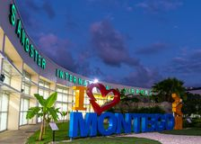 I love Montego Bay/ I heart Montego Bay sign at the Sangster International Airport