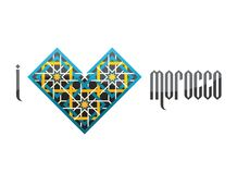 I love Morocco. Vector iluustration. Stock Photography