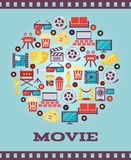 I Love Movies Concept Graphic Designs Royalty Free Stock Photo