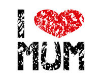 I love mum. Sign Royalty Free Stock Images