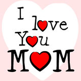 I Love Mum Represents Tenderness Mother And Passion. I Love Mum Showing Fondness Loving And Compassion stock illustration