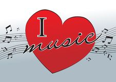 I love music Stock Image