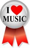 I Love Music Button/eps stock illustration