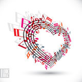 I love music conceptual background. Royalty Free Stock Image