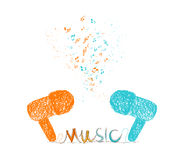 I love music doodle art colorful Royalty Free Stock Image
