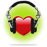 I love Music. Haftones Background Stock Image