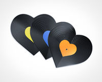 I love music. Heart shape disc i love music Royalty Free Stock Images