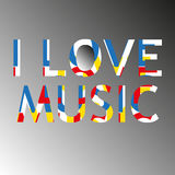 I love music modern poster Stock Photography
