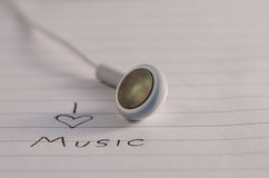 I love music Royalty Free Stock Photography