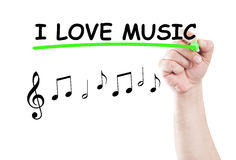 I love music Stock Photography