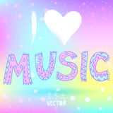 I love music Royalty Free Stock Photo