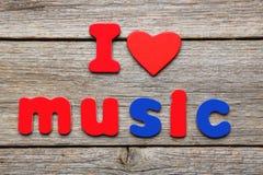 I love music Royalty Free Stock Image