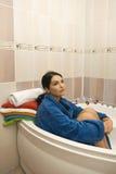 I love my bathroom! stock photos