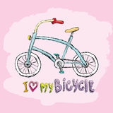 I love my bicycle concept design. Royalty Free Stock Images