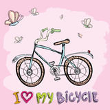 I love my bicycle concept design. Royalty Free Stock Photos