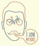 I Love My Bike Stock Image