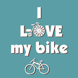I Love My Bike Royalty Free Stock Images