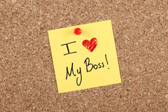 I love my boss Royalty Free Stock Photography