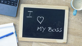 I love my boss Stock Image