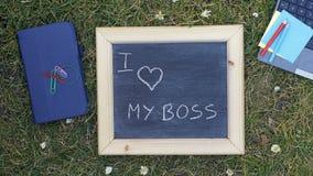 I love my boss Stock Photo