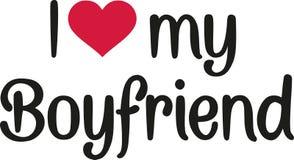 I Love My Boyfriend Stock Vector Illustration Of Valentine 107172388