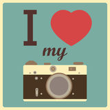 I love my camera Royalty Free Stock Image
