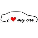 I love my car  Stock Image