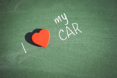 I love my car phrase handwritten Royalty Free Stock Images