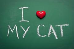 I love my cat Royalty Free Stock Photography