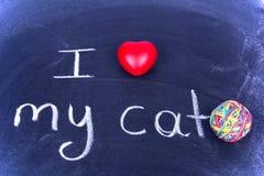 I Love My Cat Royalty Free Stock Photo