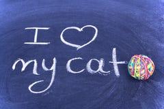 I Love My Cat Stock Image