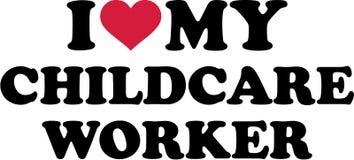 I love my Childcare Worker stock illustration