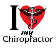 I Love My Chiropractor royalty free illustration