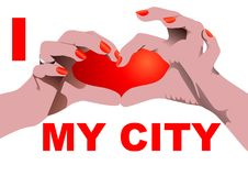 I love my City isolated on white Stock Images