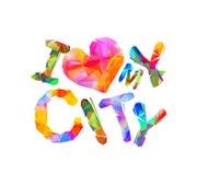 I love my city. Vector inscription Stock Photo