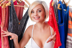 I love my clothes! Royalty Free Stock Image