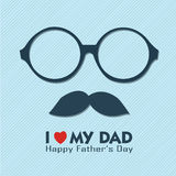 I love my dad. Text and abstract face on blue background royalty free illustration