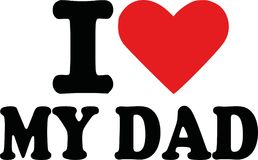 I love my dad. Vector Stock Image