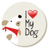 I love my dog label Royalty Free Stock Photography