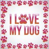 I love my dog Royalty Free Stock Photo