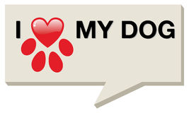 I love my dog with paw heart Stock Photography