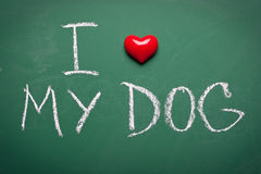 I love my dog Stock Photos