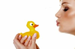 I love my ducky. Stock Photo