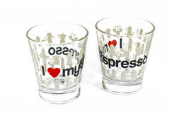 expresso glasses two Stock Photography