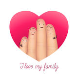 I love my family poster Royalty Free Stock Photography