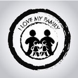 I love my family seal Royalty Free Stock Images