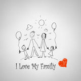 I love my family Royalty Free Stock Images