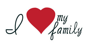 I love my family vector Stock Photo