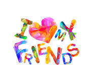 I love my friends. Vector Royalty Free Stock Photo